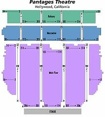 3 Tickets HAMILTON 8/24/17 Pantages Hollywood Theatre 3rd Row Orchestra Right