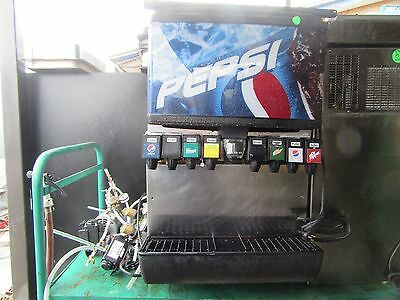 Pepsi Dispenser 8 Head Co2 Counter Top Soda Pop Beverage Retail