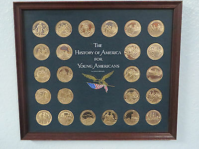 History Of America Young For Americans  24 Bronze Coin Medals Franklin Mint