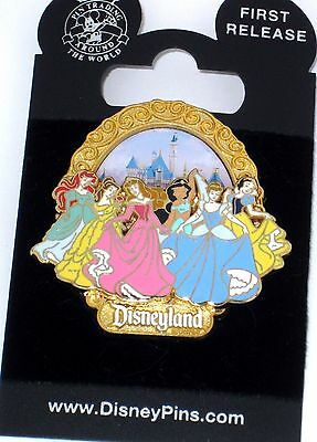 Retired Disney Pin✿Cinderella Sleeping Beauty & Beast Belle Ariel Little Mermaid