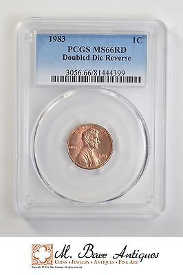 MS66 RD 1983 Lincoln Memorial Cent - Doubled Die Reverse - Graded PCGS *2323