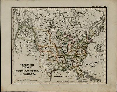 United States Texas Republic Oregon District Mandan Osage Ozark 1846 rare map