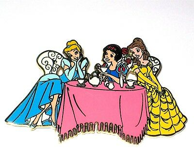 LE Disney Auctions Pin✿Belle Beauty Beast Snow White Cinderella Lunch Tea Party