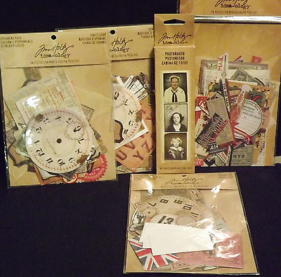 Tim Holtz Huge Lot Of Ideology Kits 271 Pieces Ephemera  Brand New In Packages