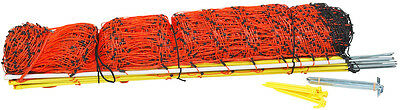 """40"""" x 164' Orange Poultry and Goat Electric Mesh Net Fence"""