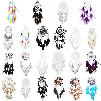 Handmade Dream Catcher with feather wall or car hanging decoration ornament gift