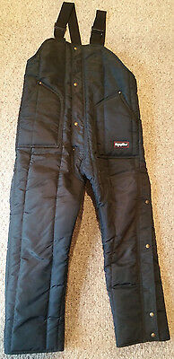 Style 385 Black RefrigiWear Insulated High Bib Cold Weather Coveralls Men's L