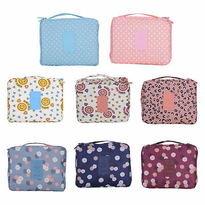 Travel Makeup Cosmetic Toiletry Case Wash Organizer Storage Pouch Hanging Bag