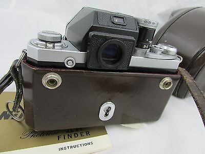 Clean vintage Nikon F SN 6835771 with F Photomic finder & manual