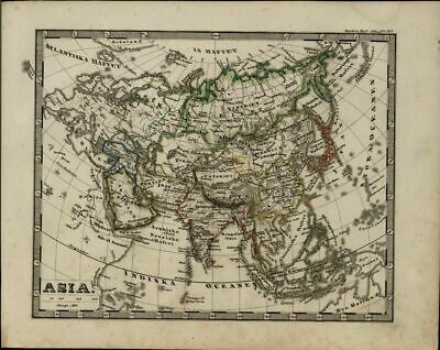 Asia Tibet China India Tartary Arabia Russia Japan 1846 scarce antique map