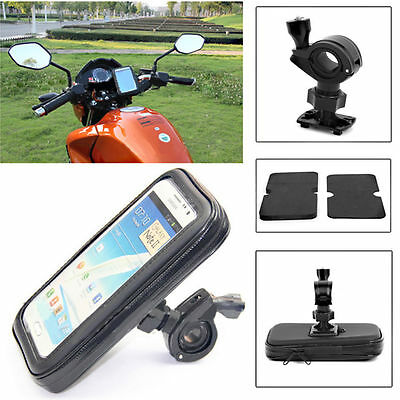 "Motorbike Motorcycle Bike GPS SAT NAV Case Bag s Mount Holder Waterproof 5"" 6"""