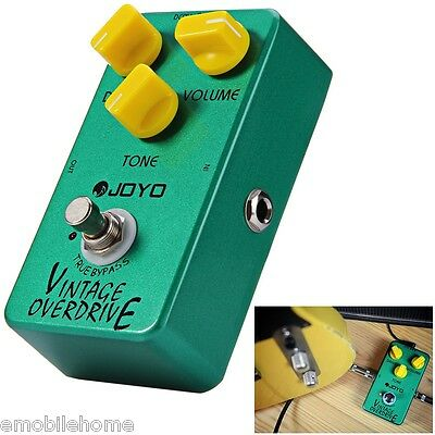 New JOYO JF - 01 Vintage Overdrive Guitar Effect Pedal True Bypass RC4588 Chip