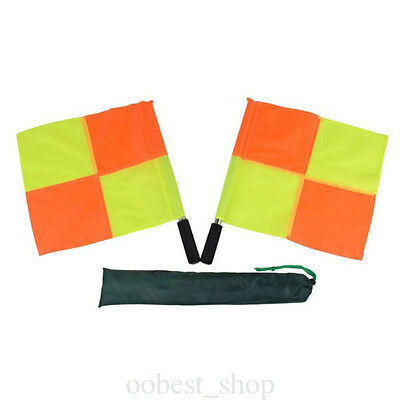 Soccer Football Referee Flag Fair Play Sports Match Linesman Flags Quartered