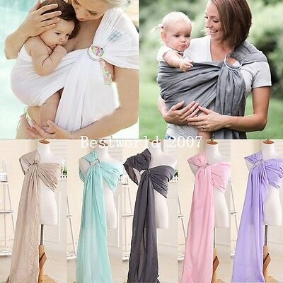 Baby Outdoor Ring Sling Straps Carrier Water Mesh Fast Drying Sling Wrap New