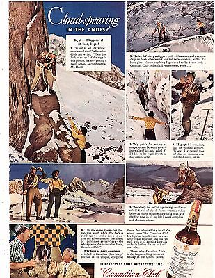 1942 ad canadian club spearing the clouds