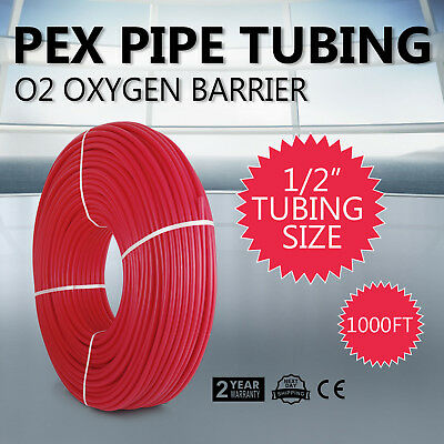 """1/2""""x1000ft PEX Tubing For Potable Water Combo Oxygen Barrier Pex-B Pipe Ship"""