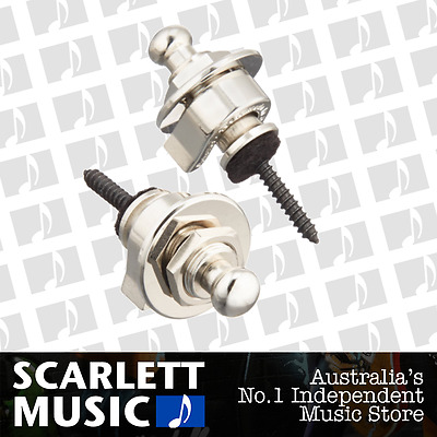 Schaller GENUINE Nickel Strap Locks Set For Guitar/Bass *BRAND NEW*