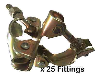 Pack of 25 New Scaffold Double Fittings - DIY - SelfBuild - Great Value