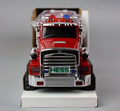 New 2015 51st Hess Collectible Toy Fire Truck and Ladder Rescue DAMAGE BOX
