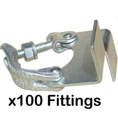 Pack of 100 New Scaffold Board Retaining Clips Fittings - DIY - SelfBuild