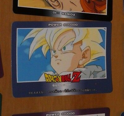 Dragon Ball Z Dbz Pp Amada Carddass Card Carte 918 Made In Japan Nm