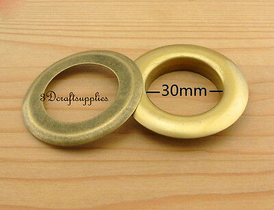 eyelets metal with washer grommets anti bronze round 14 sets 30 mm M46