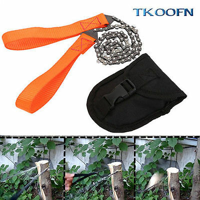Survival Chain Saw Hand ChainSaw Emergency Chic Camping Tool Pocket 11 Teeth