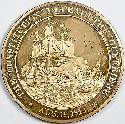 Constitution Defeats Guerriere: War of 1812 - Franklin Mint Solid Bronze Medal