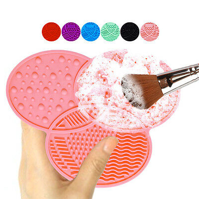 Silicone Makeup Cosmetic Brush Pad Cleaner Washing Clover Shaped Cleaning Mat