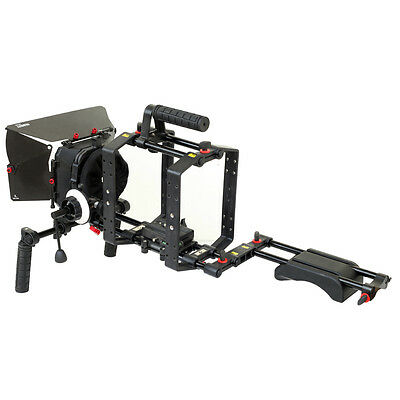 Filmcity DSLR Camera Shoulder Rig Matte Box Cage with Top Handle fr Tripod Mount