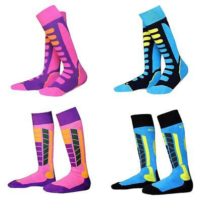 4 Pairs Kids Children Warm Ski Socks Outdoor Hiking Winter Sports Stockings