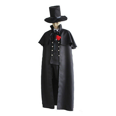 Black Butler Ciel Phantomhive Funeral Dress Gown Cosplay Costume Set Unisex S-XL