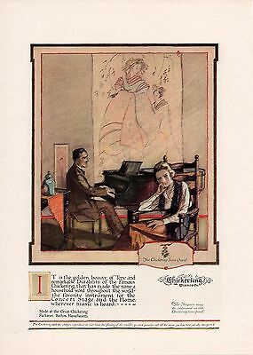8 Full Page 1919-20 Color Chickering Piano Ads
