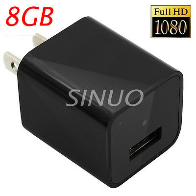 UX-6 8GB HD 1080p Mini USB Spy Camera Video DVR Genuine Charger Motion Detection