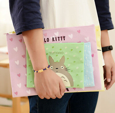 cartoon Totoro Baymax HelloKitty File Bag document holder pouch case stationery
