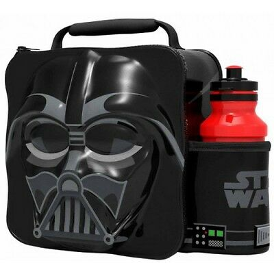 Disney Star Wars 'Darth Vader'  3D Lunch Box Bag With Bottle New Gift