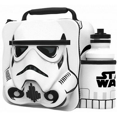 Disney Star Wars 'Stormtrooper' 3D Lunch Box Bag With Bottle New Gift