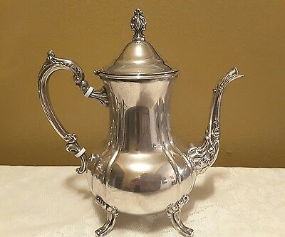 Vintage Silver Plated Towle Coffee /Tea Pot With Attached Lid