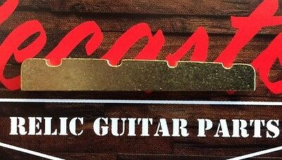 🎸 4 String Bass Guitar Nut Brass 38mm Cast Slotted Tapered