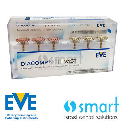 Dental Eve Diacomp Plus Twist RA 342 composite polishing diamond system EVE 14mm