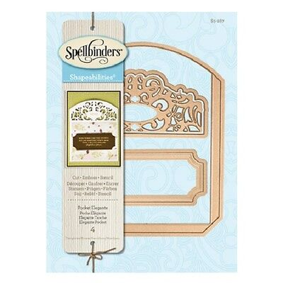 "Spellbinders S5-085  /""Mix/'d Media Elements/""   Shapeabilities  9 Templates   NEW"