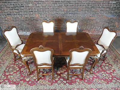 Drexel Heritage Hampshire Collection Dining Table 2 Leaves & 6 Chair Set