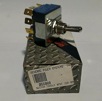 Toggle Switch 4PDT 15A - Generac Generator Part Number 055868