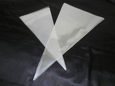 50 x Cone Cellophane Sweet Bags - Clear Cello Party Gift Favor 2 Large Sizes