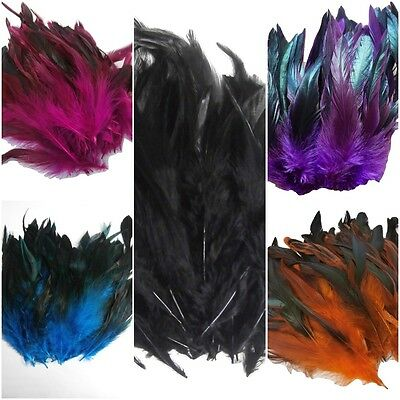 100pcs Natural Rooster Tail Feathers Bridal Wedding Crafts