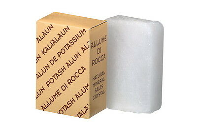 Natural Alum Block Antiseptic Astringent Pre + Post shave  Aftershave. 90 gram
