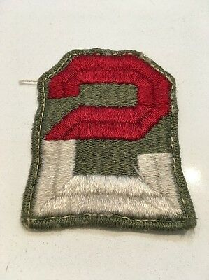 Original WWII U.S. 2nd ARMY CUT EDGE FULL COLOR PATCH