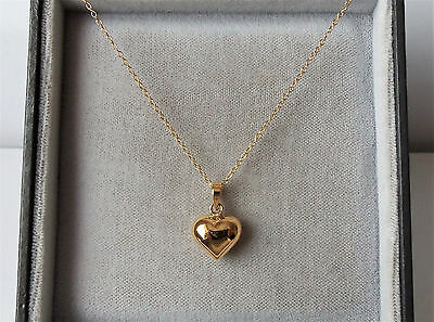 9ct gold over sterling silver puffed heart pendant necklace 9ct gold over sterling silver puffed heart pendant necklace aloadofball Images