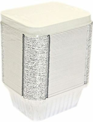 100 No2 Aluminium Foil Container With Lid Food Home Use Takeaway Dish Party Tray