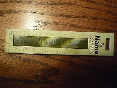 """Personalised name band """"Richard"""" Memory Band Rubber Silicone By H&&H"""